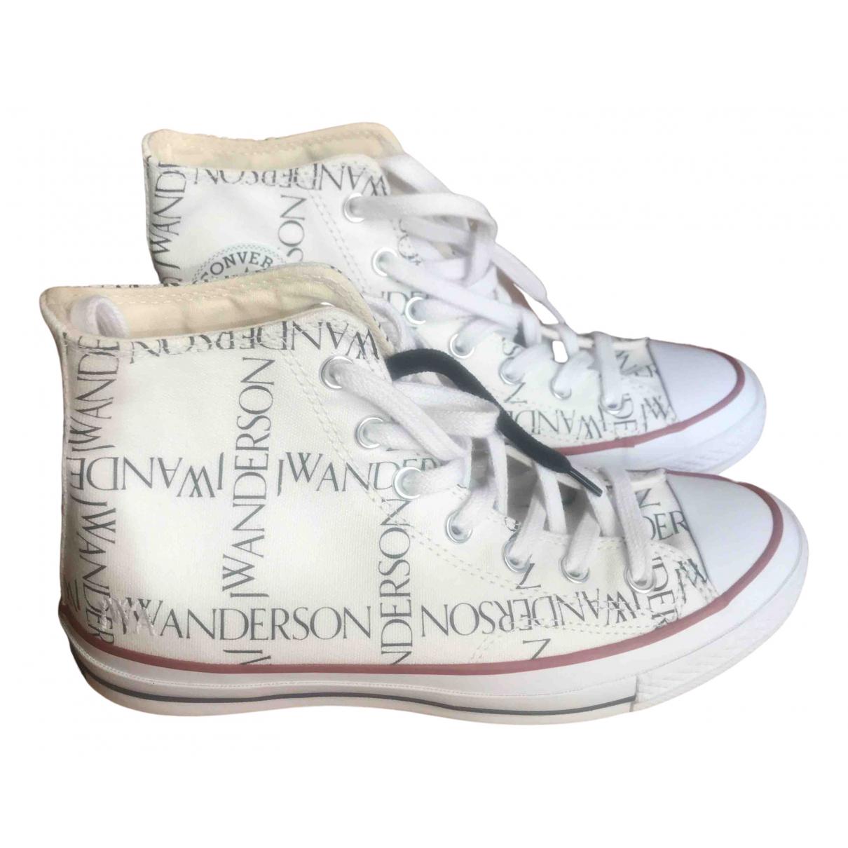 Converse X J.w Anderson \N Sneakers in  Weiss Leinen