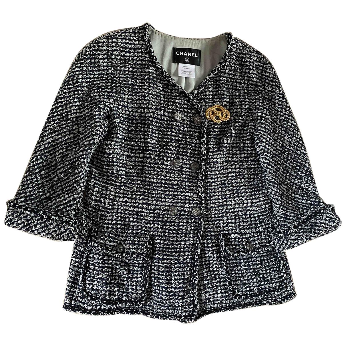 Chanel N Grey Tweed jacket for Women 42 FR