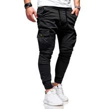 Pantalones de cintura con cordon con bolsillo con solapa