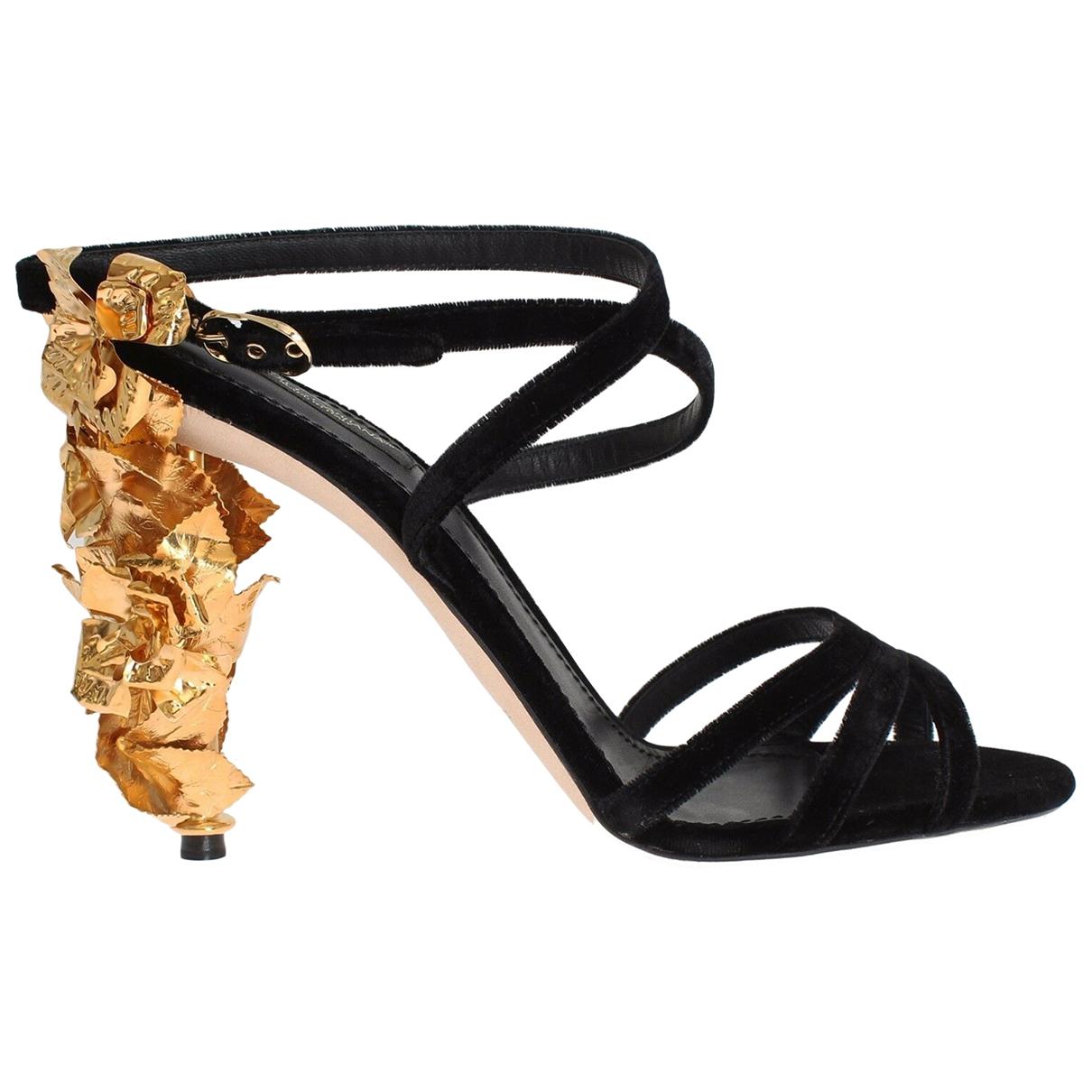 Dolce & Gabbana \N Black Suede Sandals for Women 40 EU