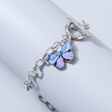 Brazalete con cadena con mariposa
