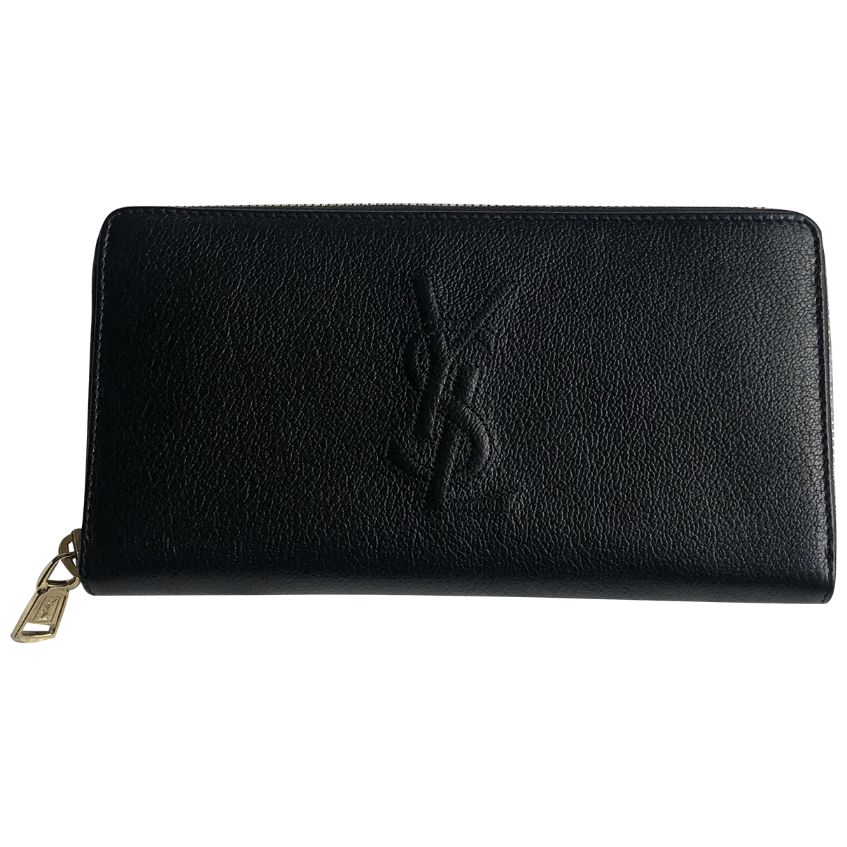 Yves Saint Laurent - Portefeuille Belle de Jour pour femme en cuir - noir