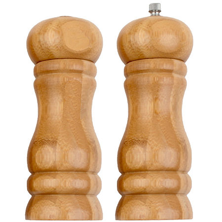 Natico Executive Chef Bamboo Salt Shaker and Pepper Mill Set, One Size , Multiple Colors