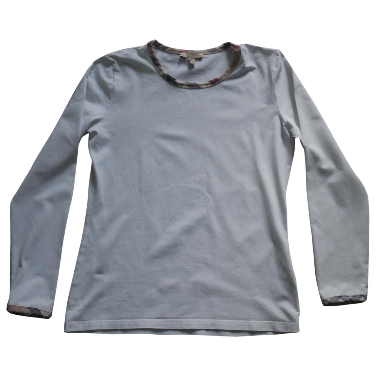 Burberry - Top   pour femme en coton - blanc