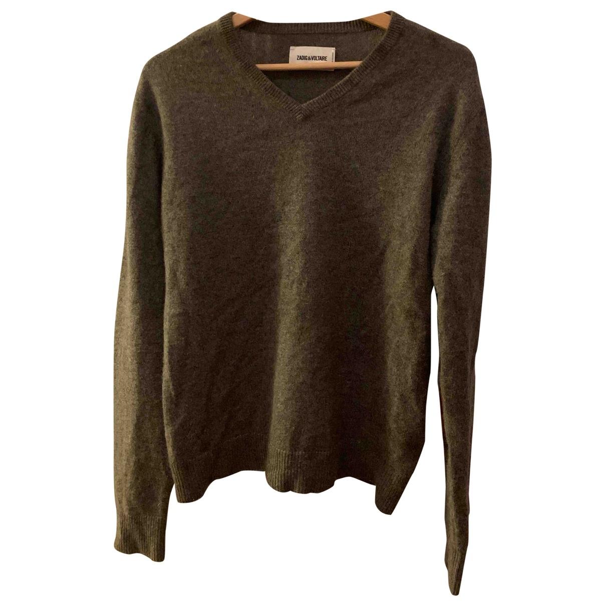 Zadig & Voltaire \N Pullover.Westen.Sweatshirts  in  Grau Kaschmir