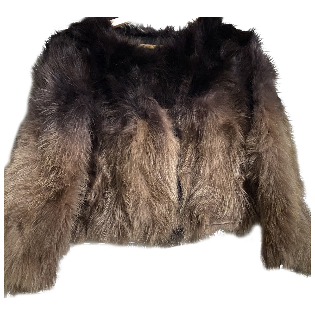 - Veste   pour femme en racoon - marron