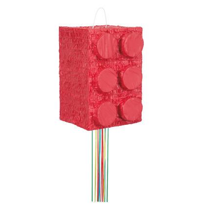 Building Blocks Birthday 3D Pinata, Pull String For Birthday Party