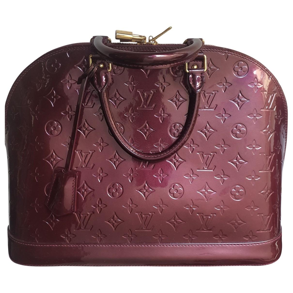 Louis Vuitton Alma Handtasche in  Lila Lackleder