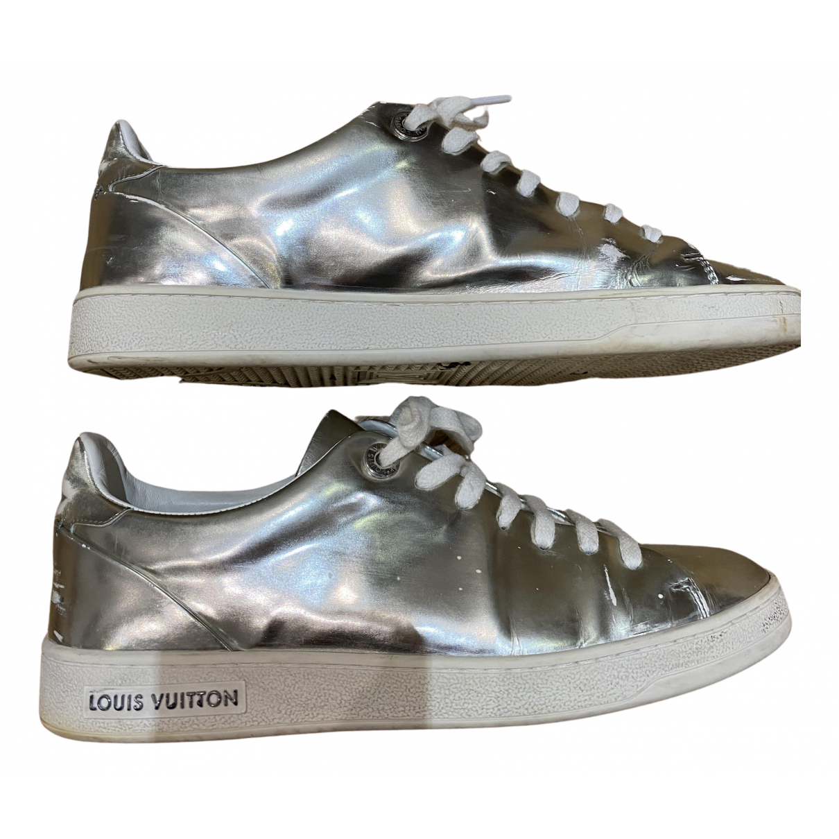 Louis Vuitton FrontRow Sneakers in  Silber Lackleder