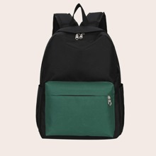 Colorblock Large Capacity Backpack