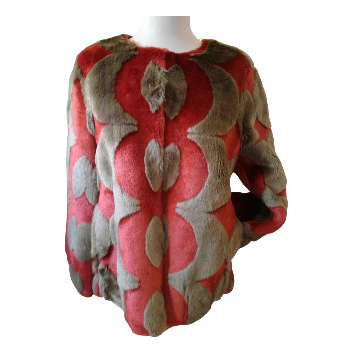 Maliparmi - Manteau   pour femme en fourrure synthetique - multicolore