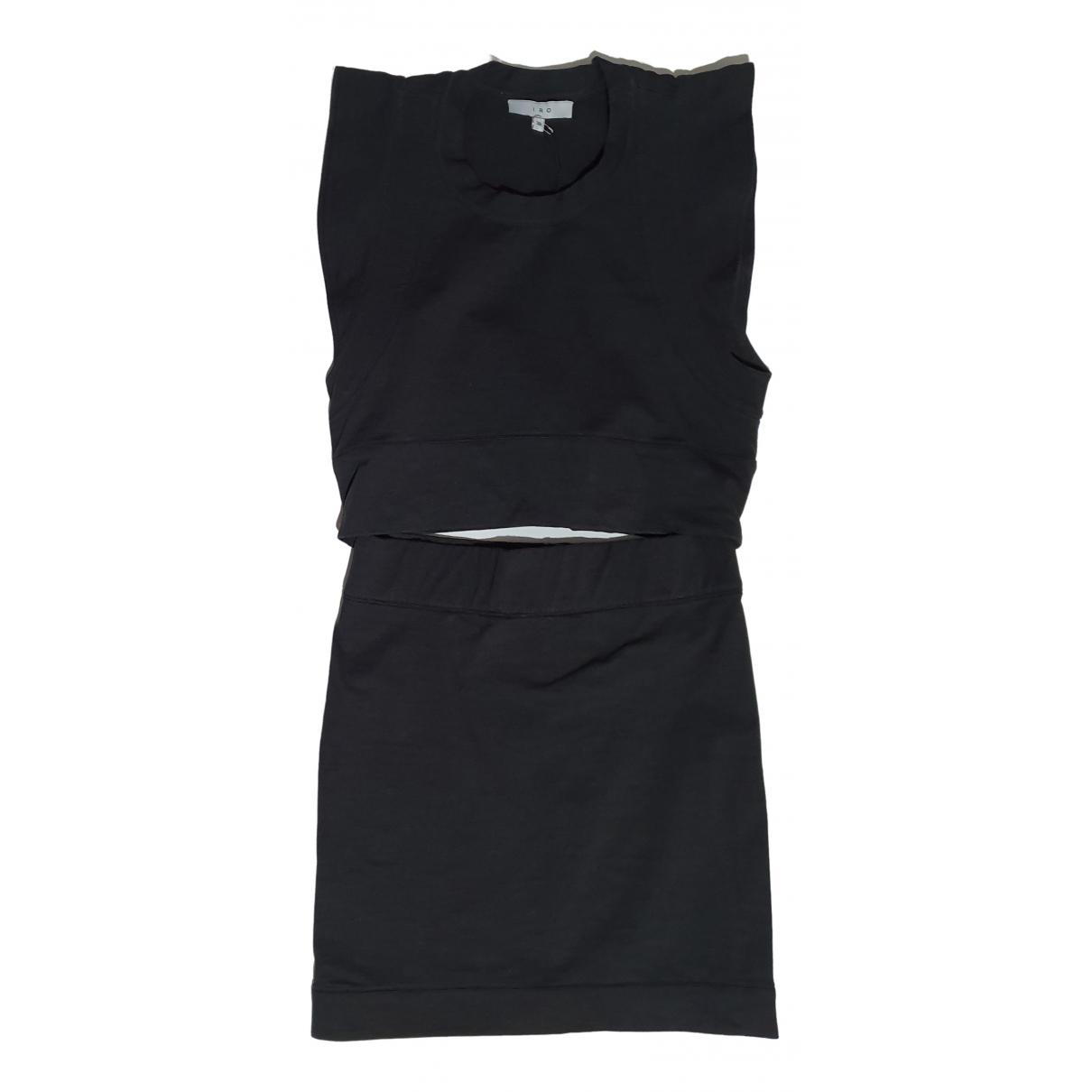 Iro \N Kleid in  Schwarz Baumwolle - Elasthan