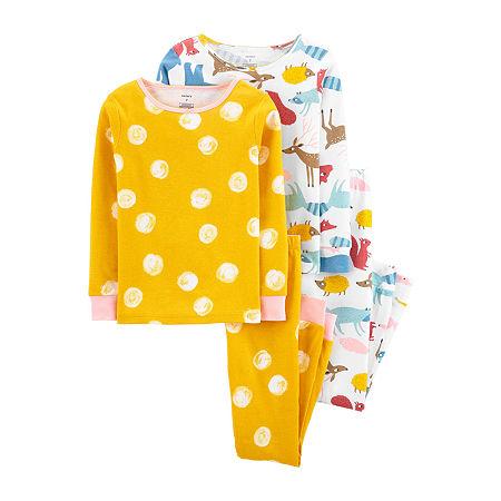 Carter's Little Girls 4-pc. Pajama Set, 14 , Yellow