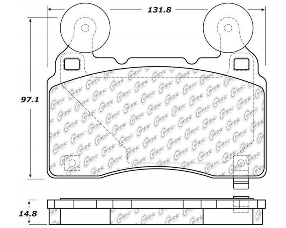 StopTech 309.1474 Sport Brake Pads with Shims/Hardware Chevrolet Front 6.2L V8