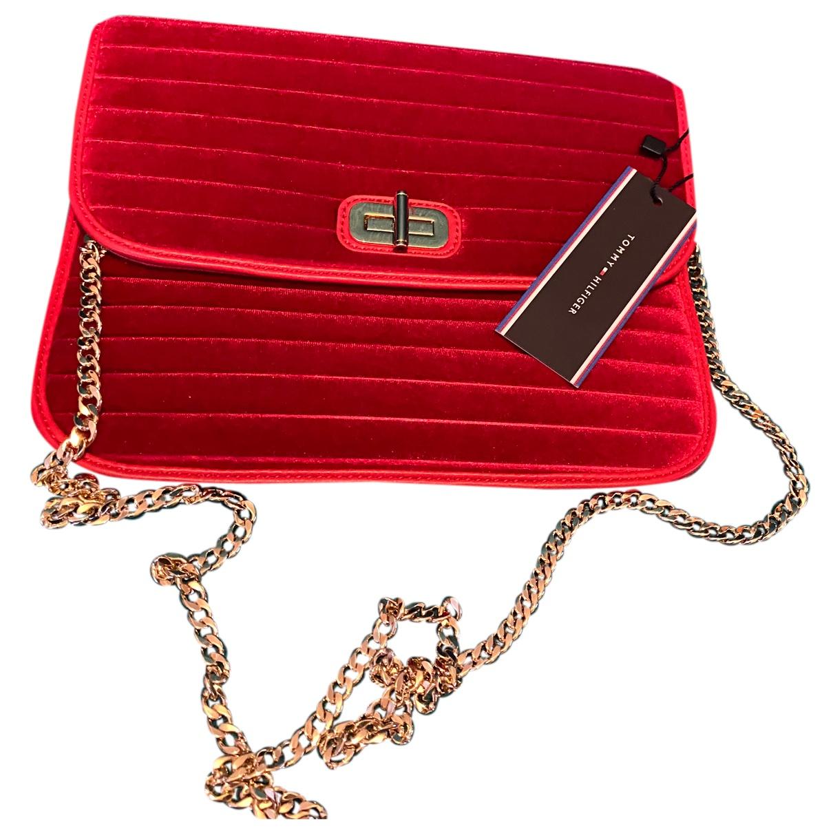Tommy Hilfiger \N Handtasche in  Rot Samt