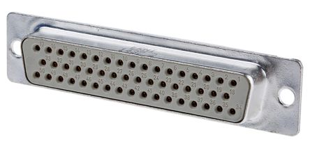 Provertha TMC Series, 50 Way Through Hole PCB D-sub Connector Socket, 2.75mm Pitch
