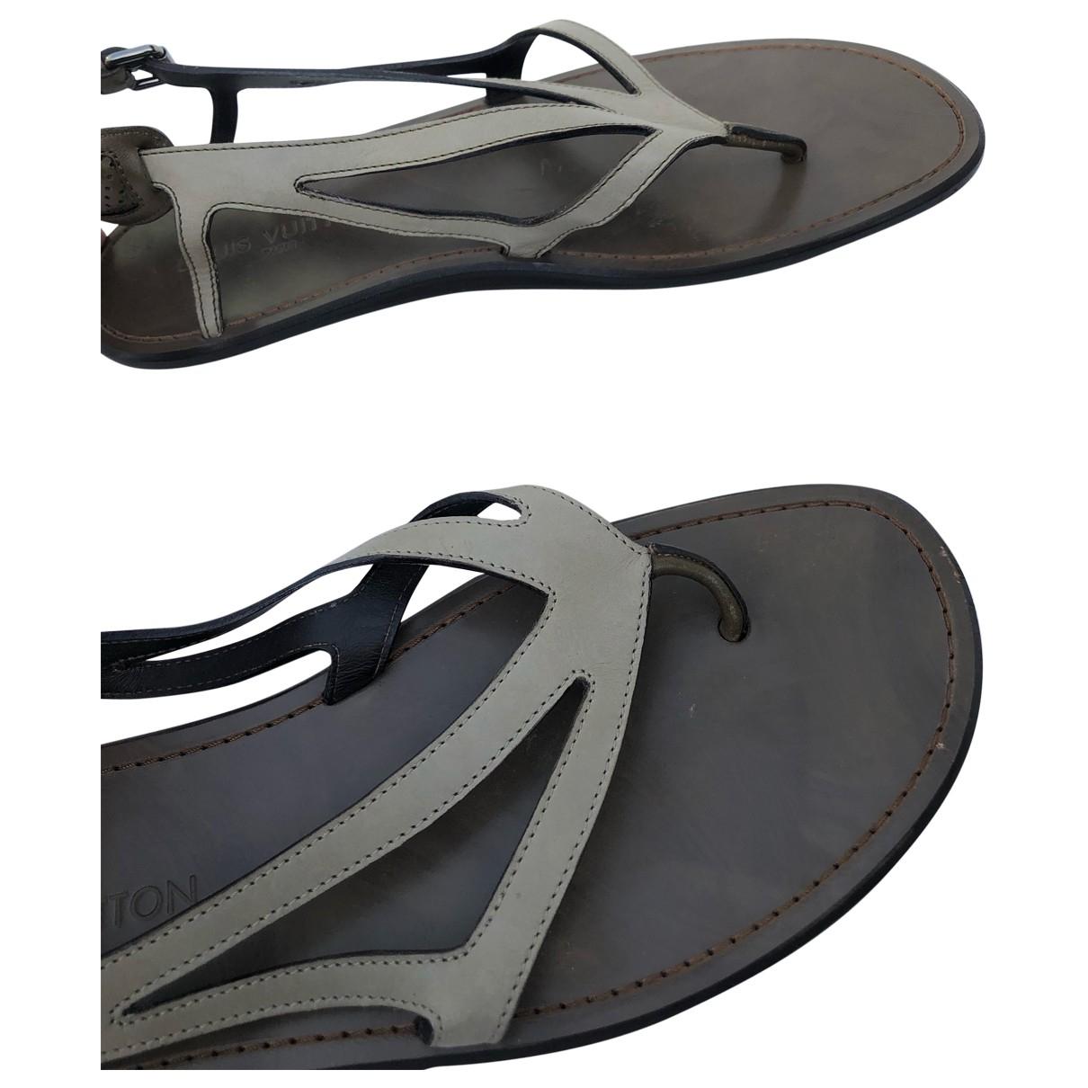 Louis Vuitton \N Grey Leather Sandals for Men 44 EU