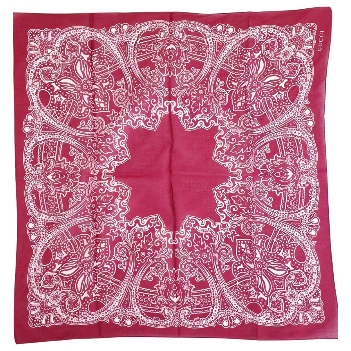 Gucci \N Red Cotton scarf for Women \N