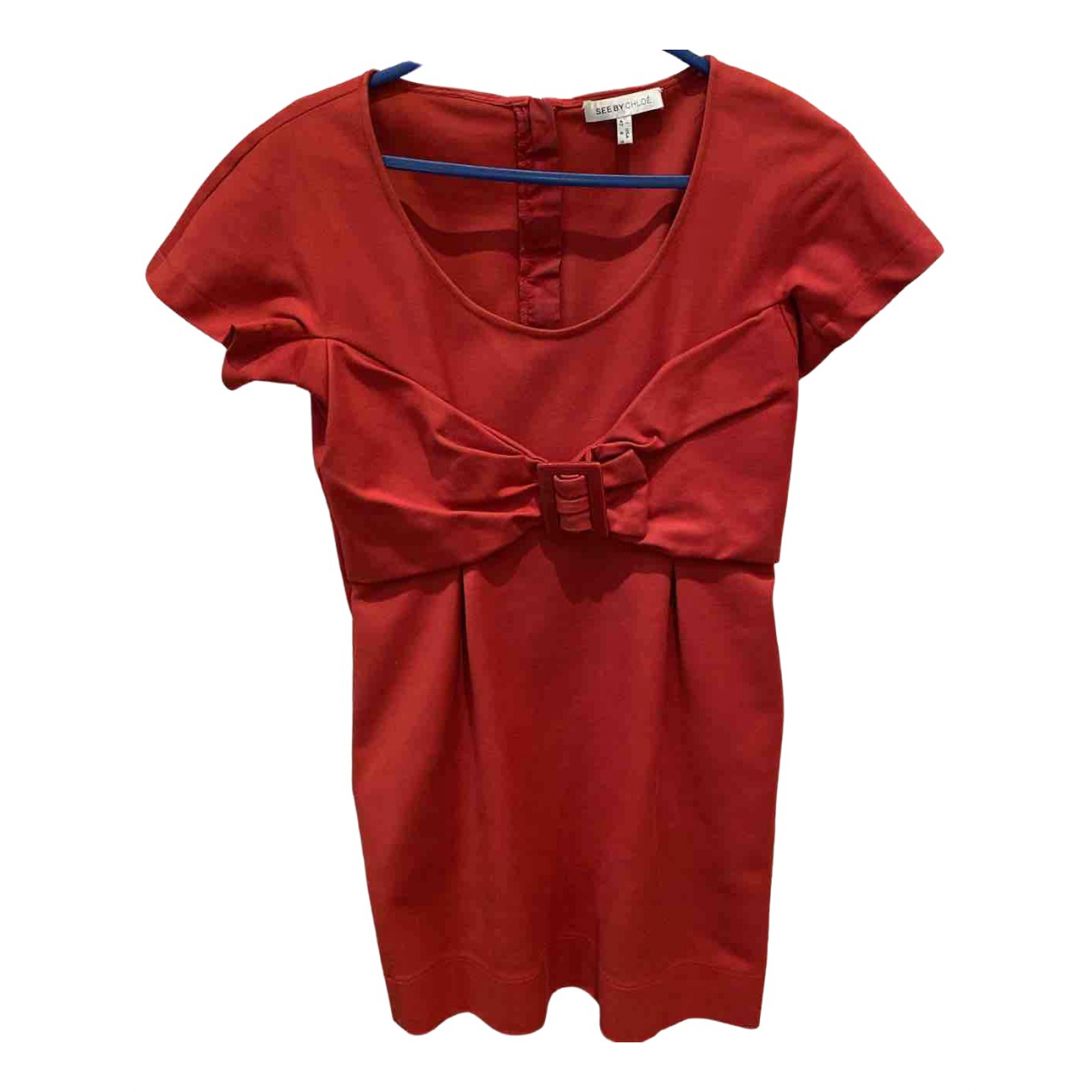 See By Chloe - Robe   pour femme en coton - rouge