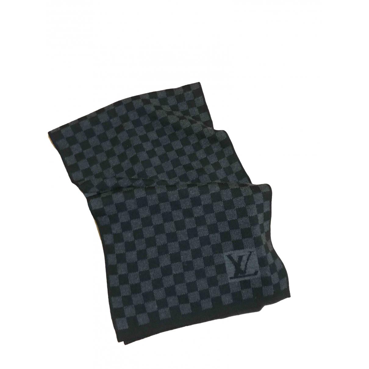 Louis Vuitton \N Black Wool scarf & pocket squares for Men \N