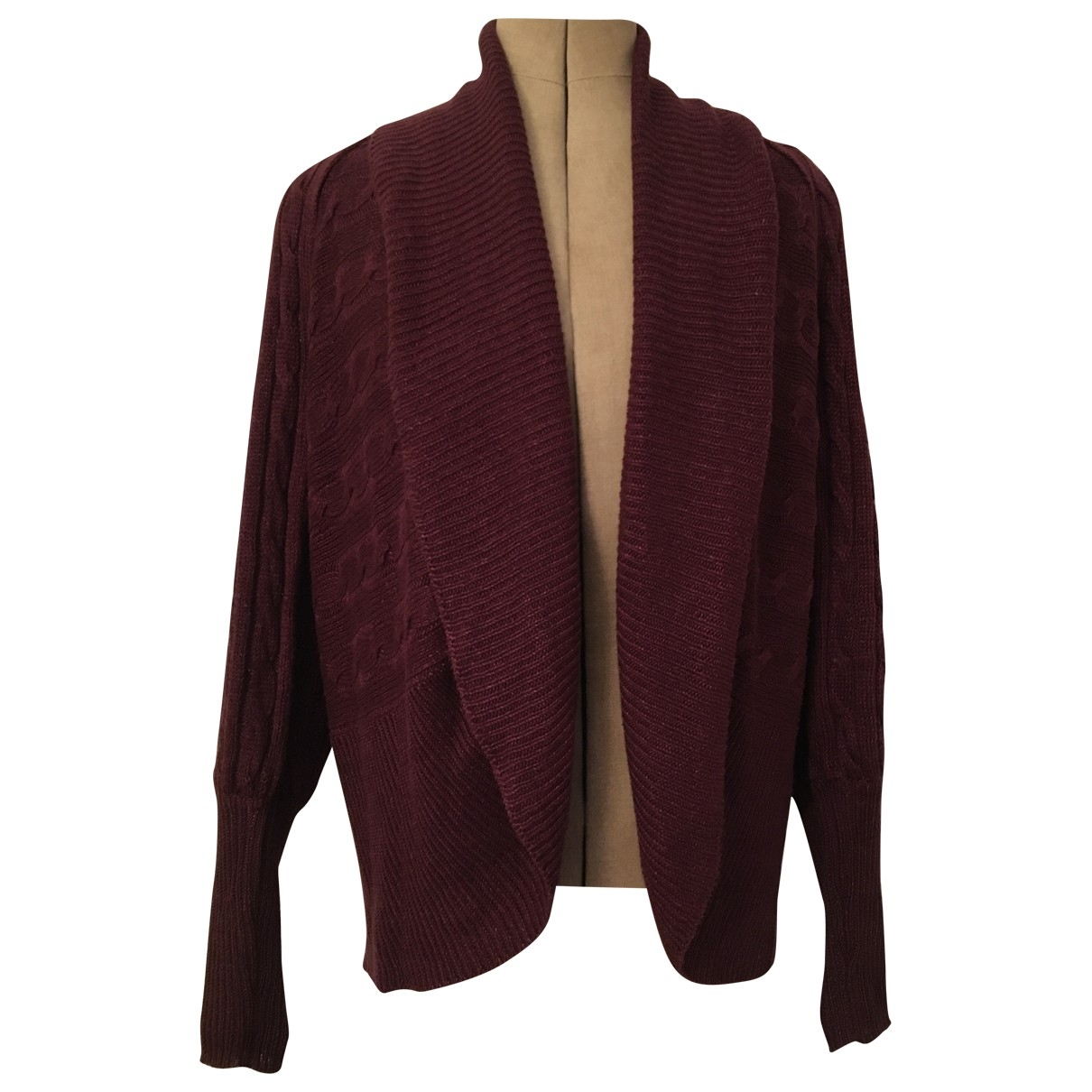 Ralph Lauren \N Burgundy Linen Knitwear for Women 38 FR