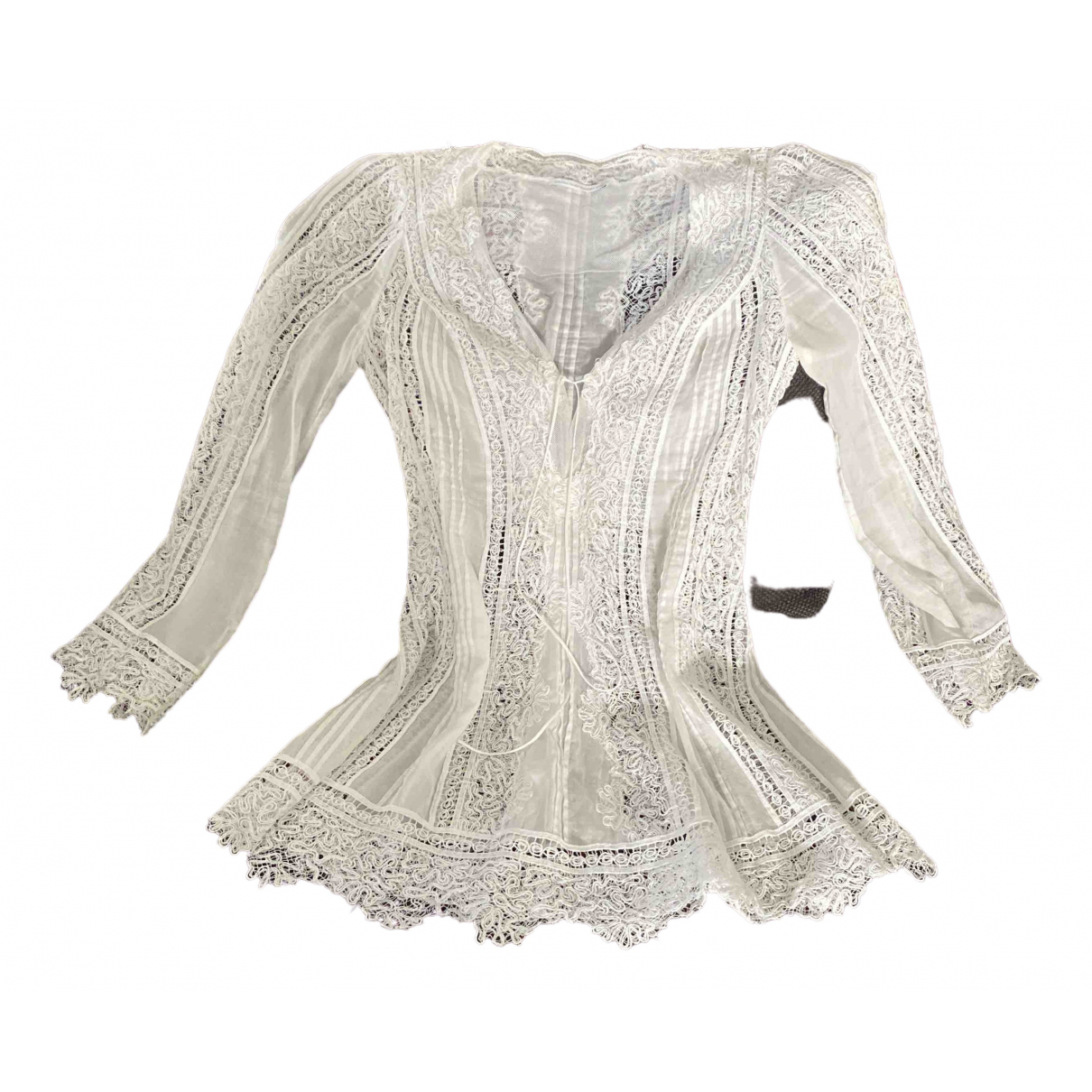 Ermanno Scervino - Robe   pour femme en dentelle - blanc