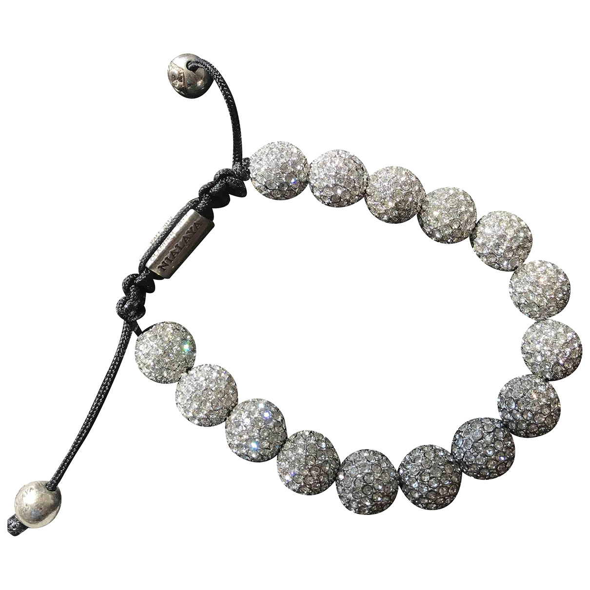 Nialaya \N White Crystal bracelet for Women \N