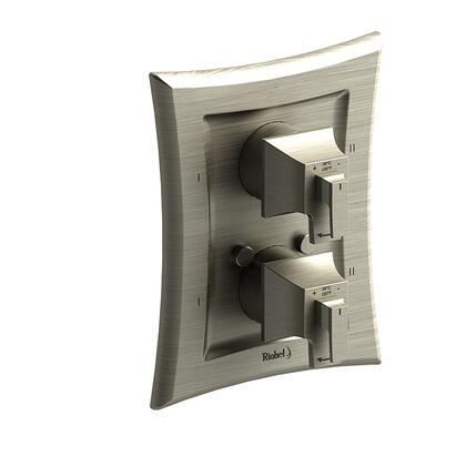 Eiffel EF88BN 4-Way No Share Type Thermostatic/Pressure Balance Coaxial Complete Valve  in Brushed