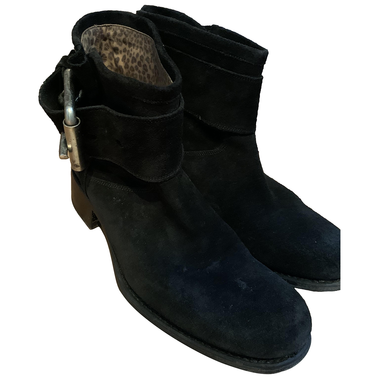 Free Lance \N Black Suede Ankle boots for Women 39 EU