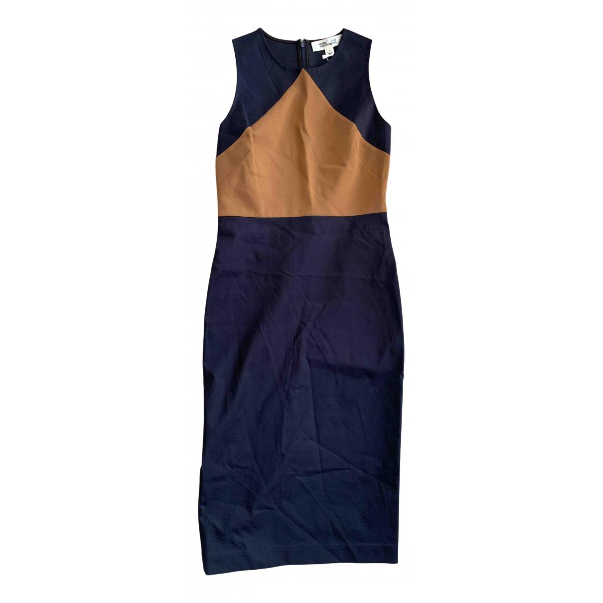 Diane Von Furstenberg N Blue Cotton - elasthane dress for Women 10 US