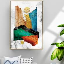 Graphic Print Wall Painting Without Frame