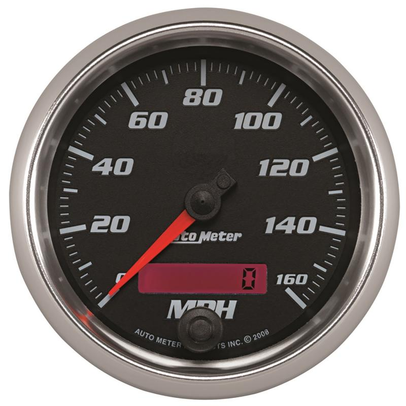 AutoMeter GAUGE; SPEEDOMETER; 3 3/8in.; 160MPH; ELEC. PROGRAMMABLE; BLACK; PRO-CYCLE
