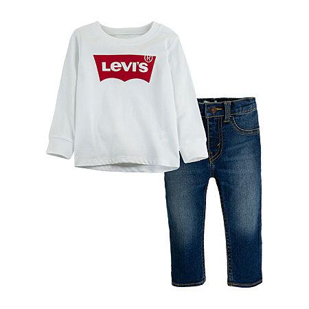 Levi's Baby Boys 2-pc. Pant Set, 9 Months , White