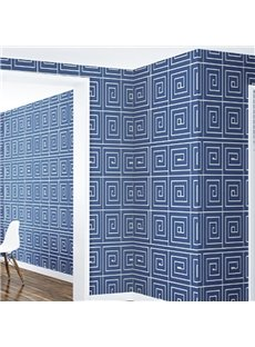 3D Blue Background PVC Sturdy Waterproof Eco-friendly Self-Adhesive Wall Mural