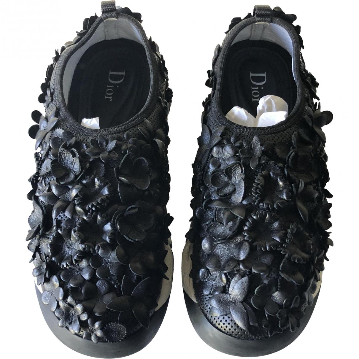 Dior Dior Fusion Black Fur Trainers for Women 36.5 EU