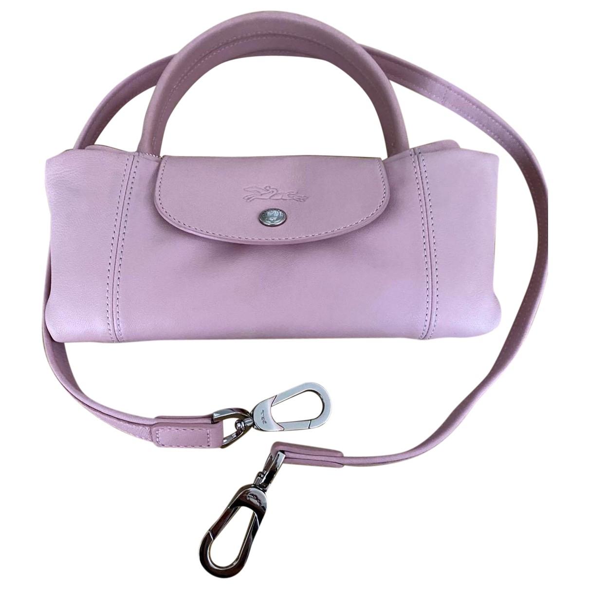 Longchamp - Sac a main Pliage  pour femme en cuir - rose