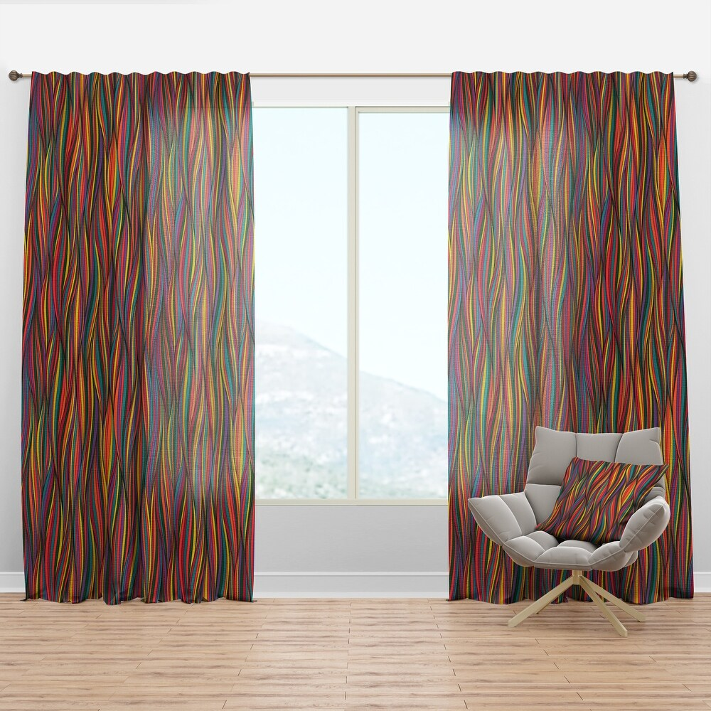 Designart 'Gorgeous Wave' Bohemian & Eclectic Curtain Panel (50 in. wide x 84 in. high - 1 Panel)