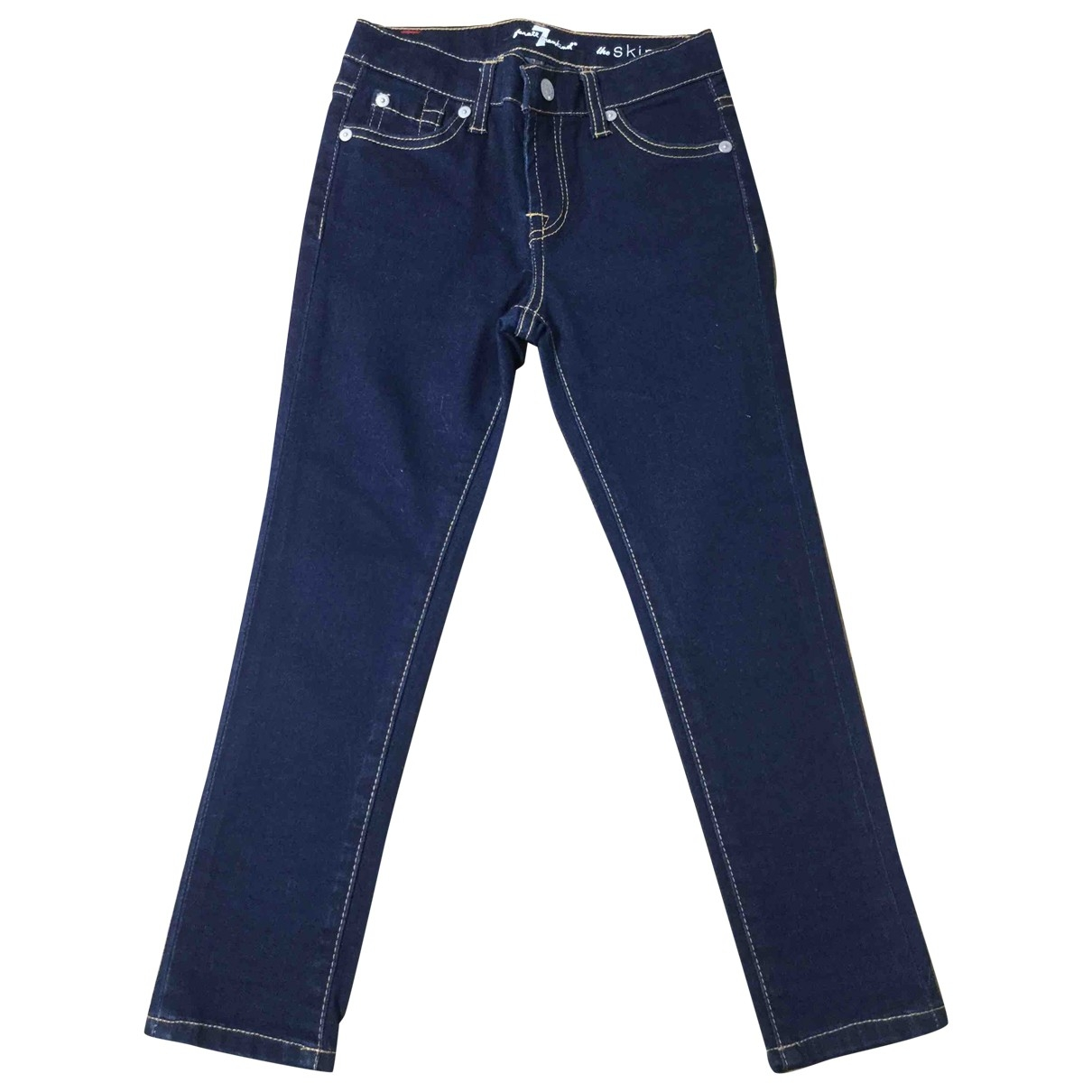 7 For All Mankind \N Blue Cotton Trousers for Kids 6 years - up to 114cm FR