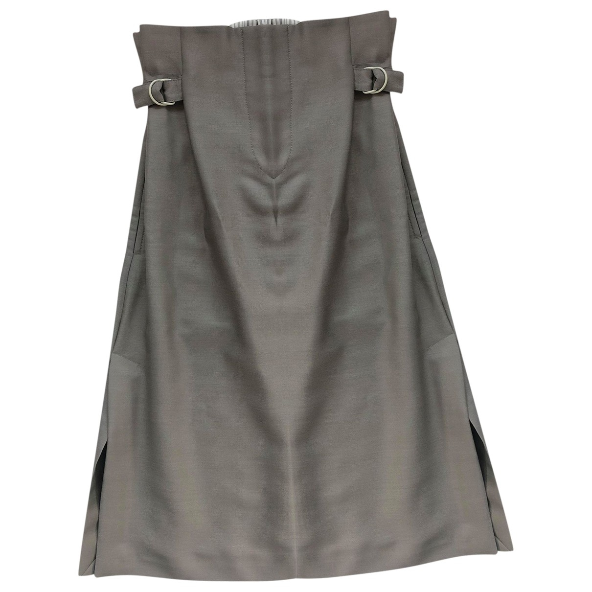 Acne Studios \N Grey Wool skirt for Women 34 FR