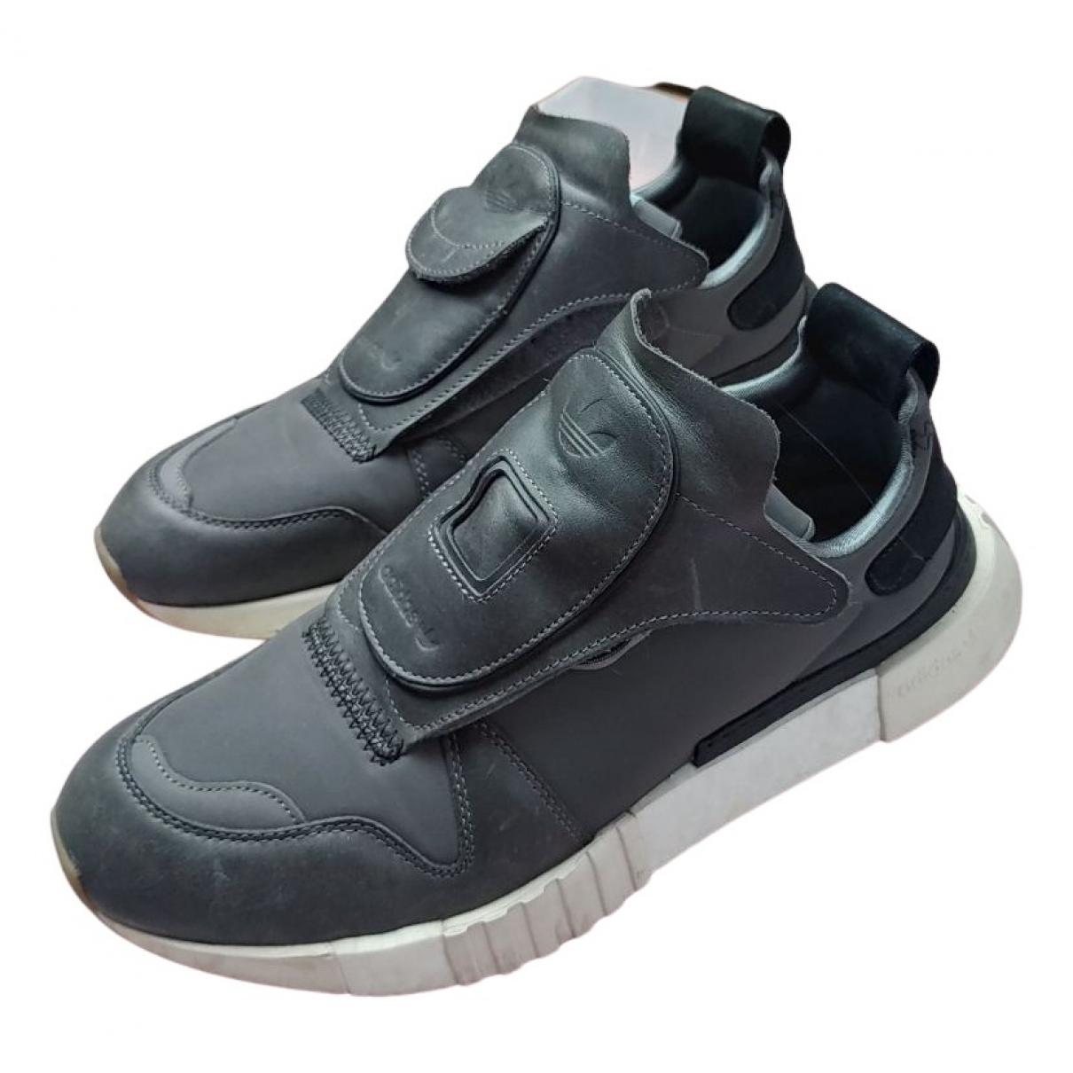 Adidas \N Sneakers in  Grau Leder