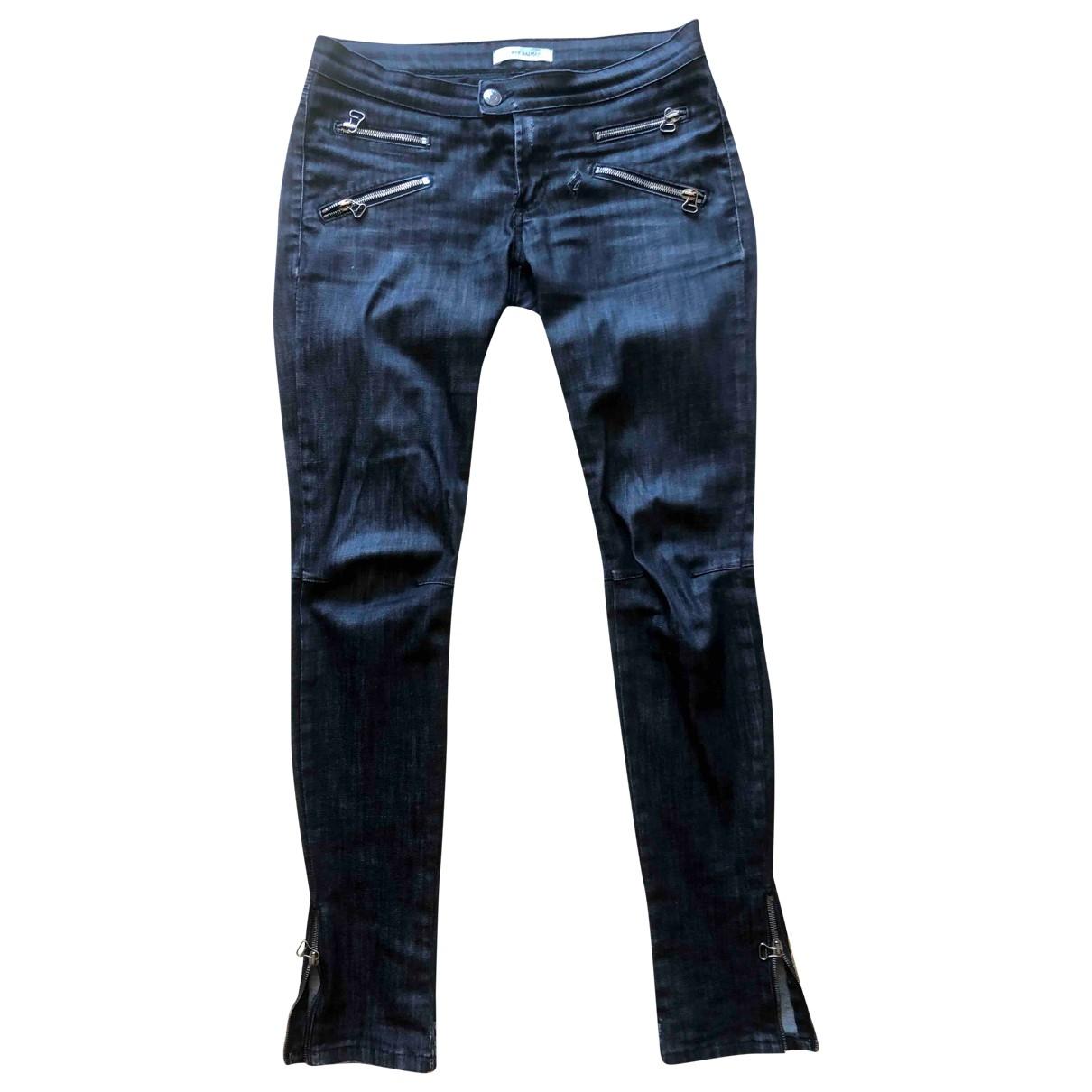 Pierre Balmain \N Black Denim - Jeans Trousers for Women 42 IT