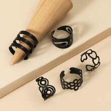 5pcs Hollow Out Ring