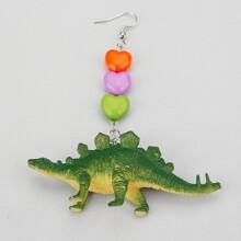 1 Stueck Maedchen Ohrringe mit Dinosaurier Dekor