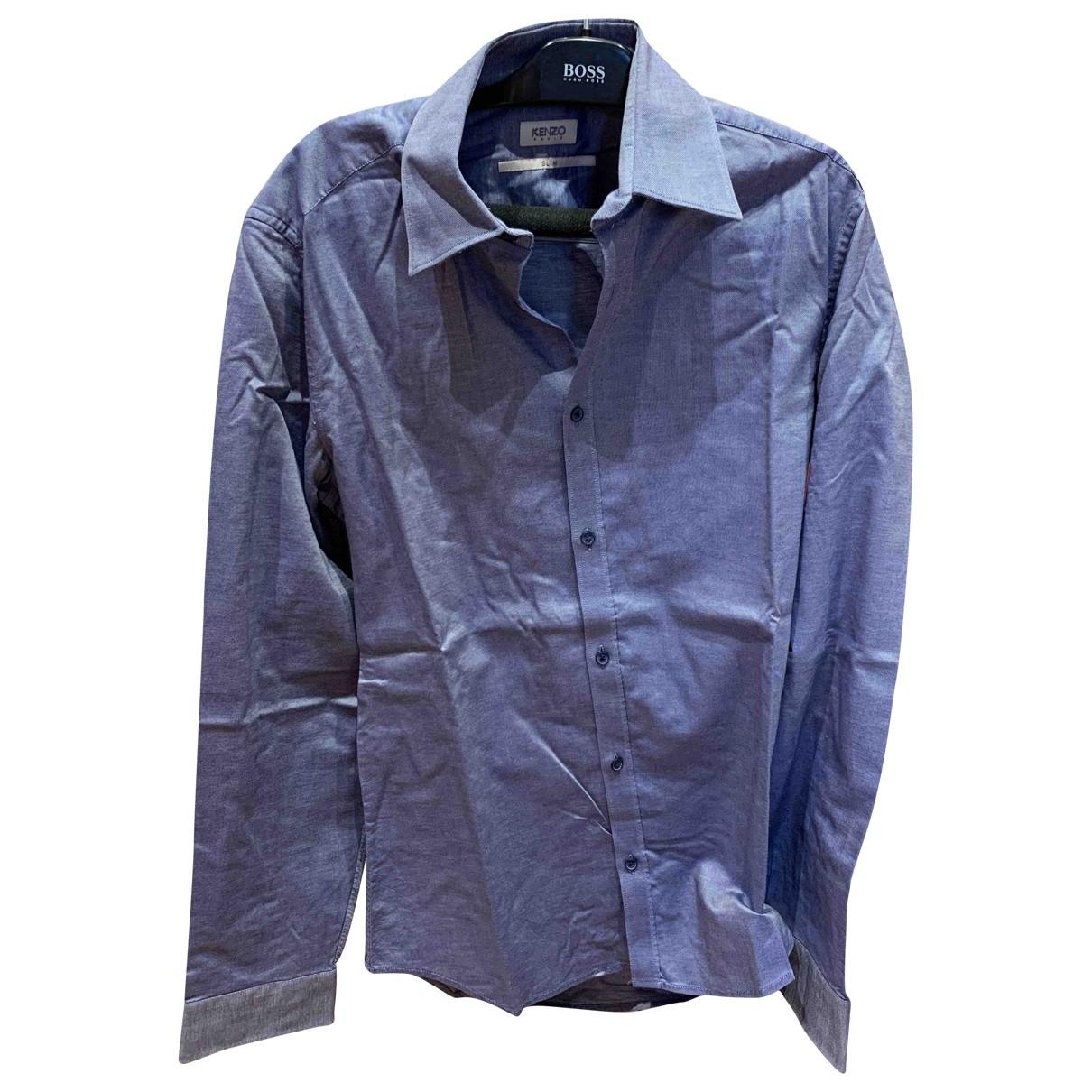 Kenzo \N Blue Cotton Shirts for Men 38 EU (tour de cou / collar)