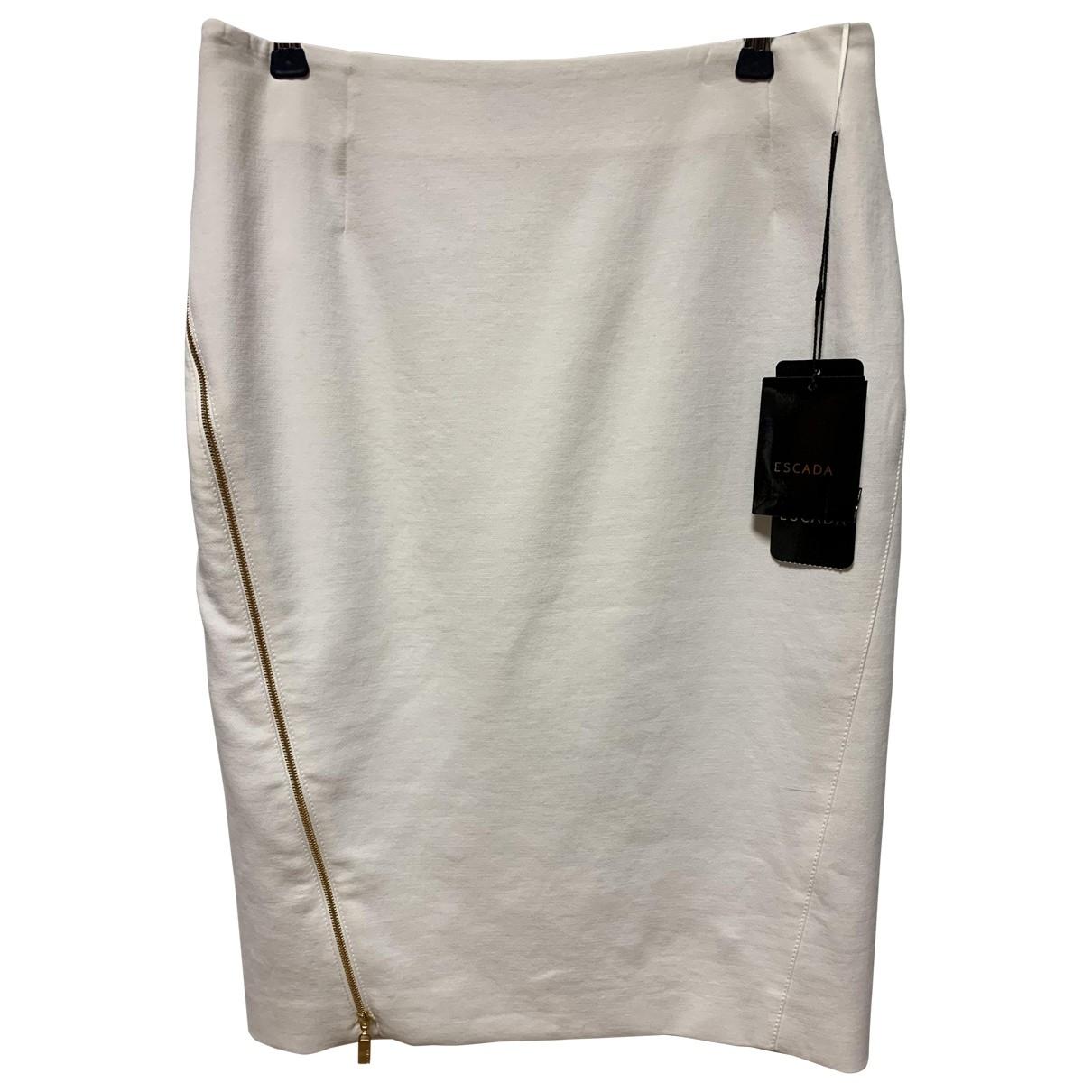 Escada - Jupe   pour femme en coton - elasthane - blanc