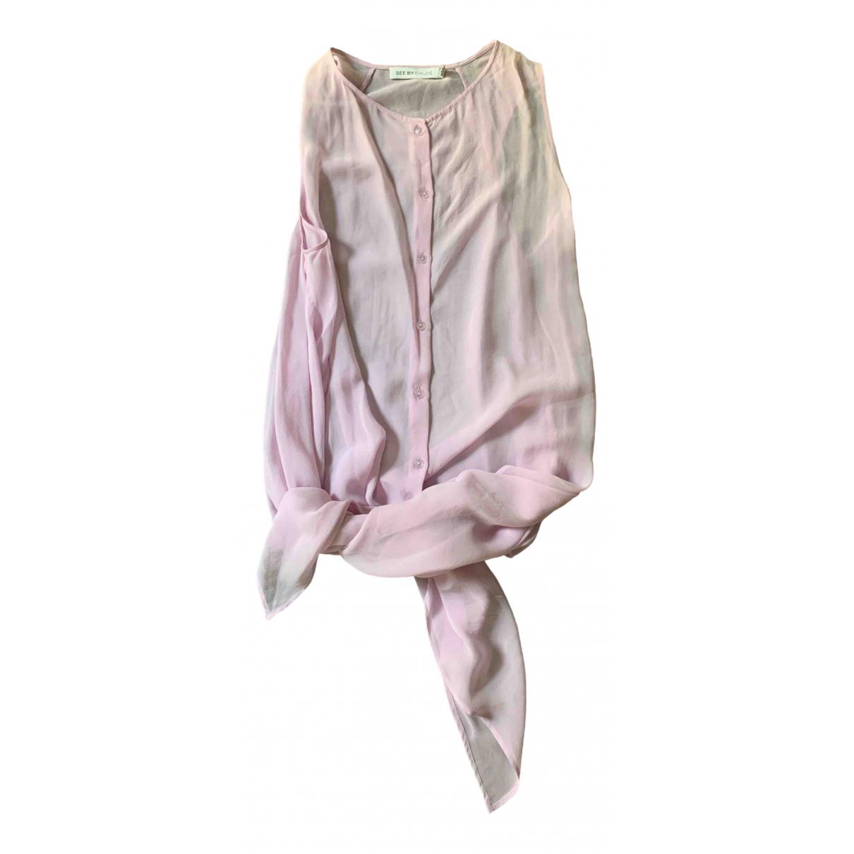 See By Chloe - Top   pour femme en soie - violet