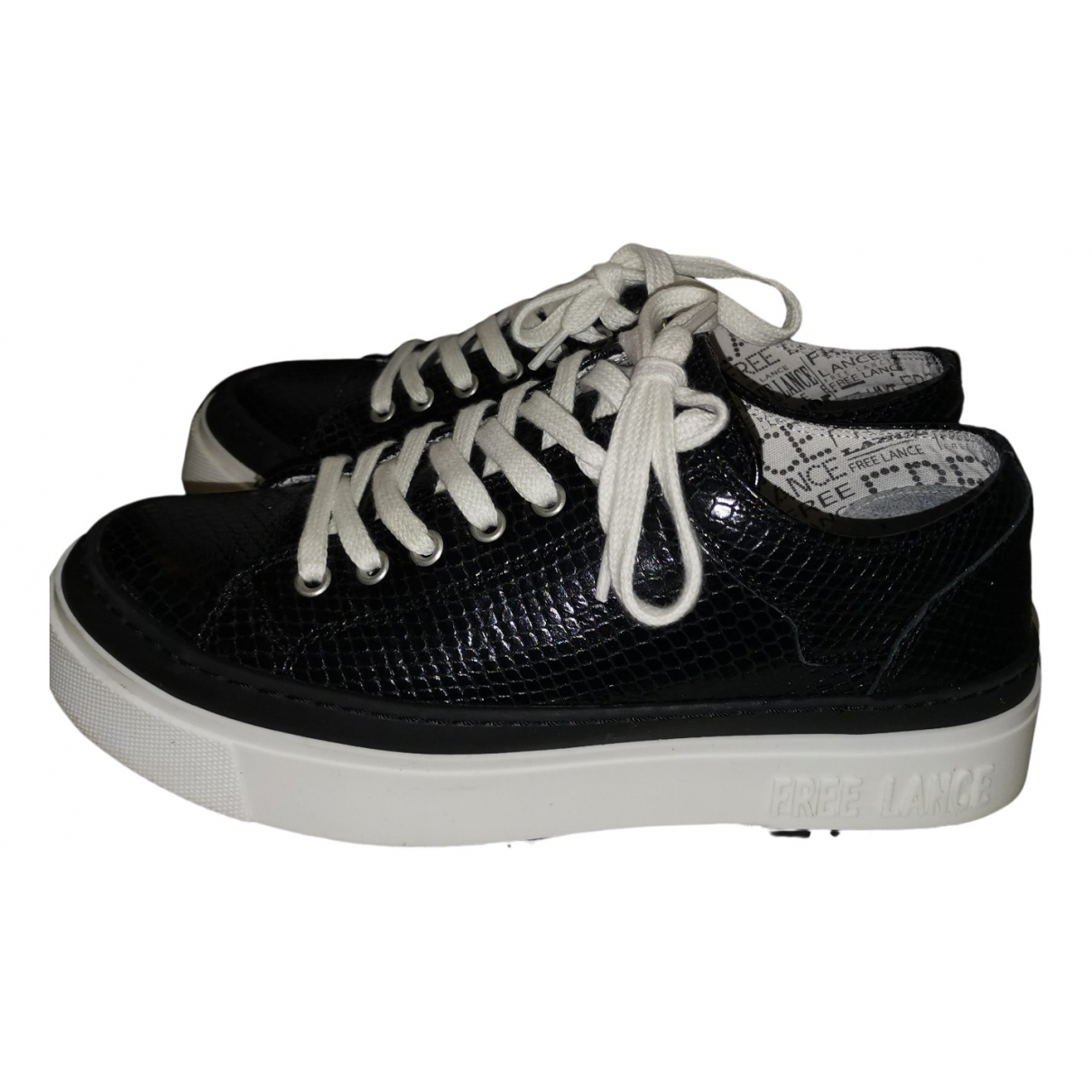 Free Lance N Black Crocodile Trainers for Women 38 EU