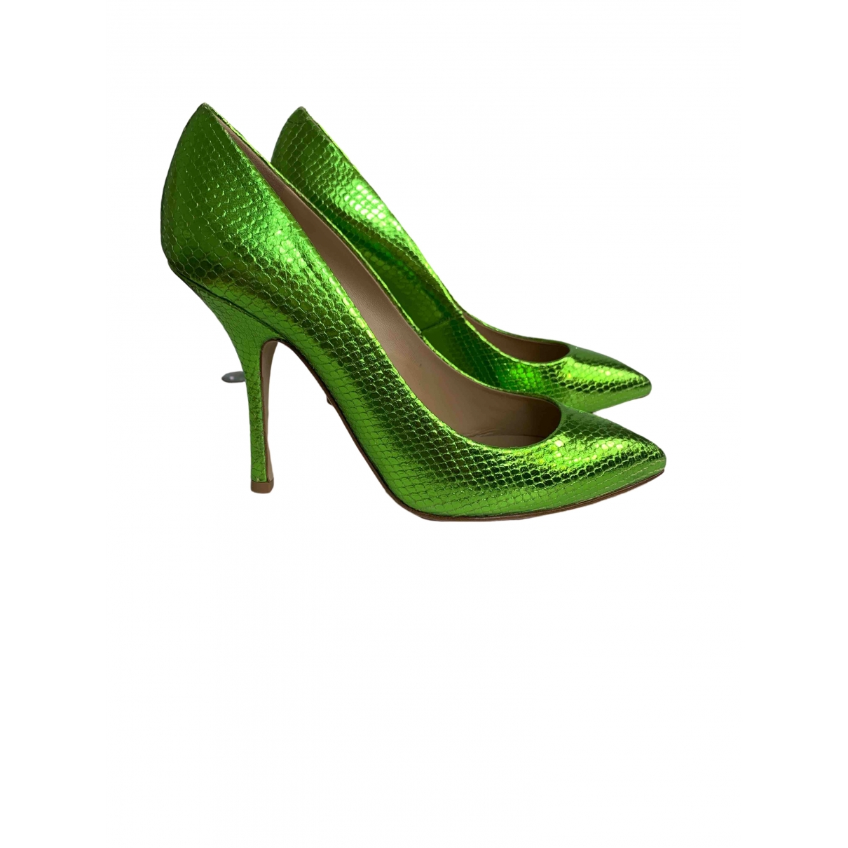 Giuseppe Zanotti \N Green Water snake Heels for Women 40 EU