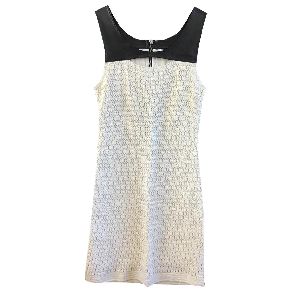Sandro \N Kleid in  Weiss Baumwolle