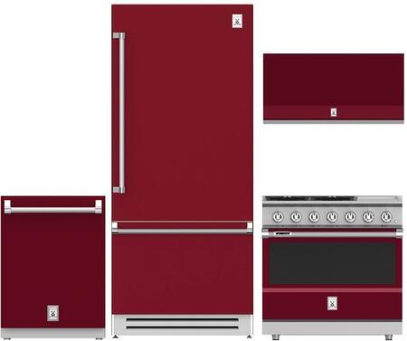 4-Piece Kitchen Appliances Package with KRBR36BG 36